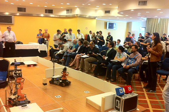 IEEE/RSJ International Conference on Intelligent Robots and Systems 2012 - RoboCup@Work Competition